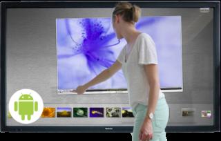 Écran tactile UHD, géant, sous Andoid, le must de l'interactivité