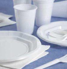 Vaisselle jetable en respect avec l'environnement